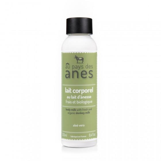 Lait corporel au lait d'ânesse frais et biologique Aloe Vera 250 ml