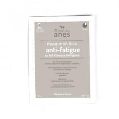 Masque en tissu au lait d'ânesse biologique Anti-fatigue 20 ml