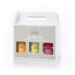 Coffret gels douche limonade Fleur d'oranger - Amande douce - Fruits Rouges