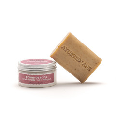 Pack soin : savon ayurved'âne et crème de soin 100 ml